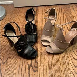 Block heels *2 pair bundle*